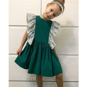 Kids girls green dress