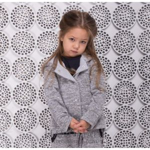 Kids grey hooded jacket