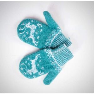 "Kids mittens ""Winter pattern"""