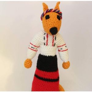 "Knitted animals ""Fox"""