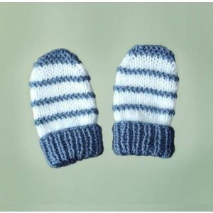 "Knitted baby mittens ""Snowman"""