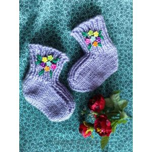 "Knitted baby socks ""Lilac"""