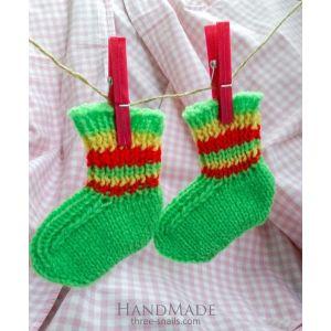 "Knitted baby socks ""Spring"""