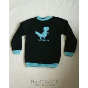 "Knitted baby sweater ""Dino"""