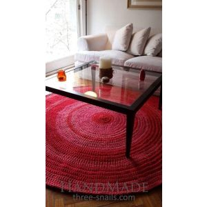 Knitted cotton area rug