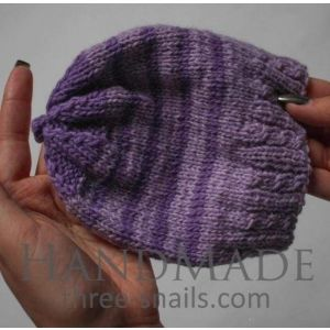 """Knitted hats for babies""""Violet stripes"""""""