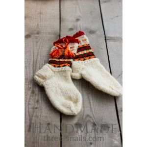"Knitted socks wool ""Cheerful rest"""