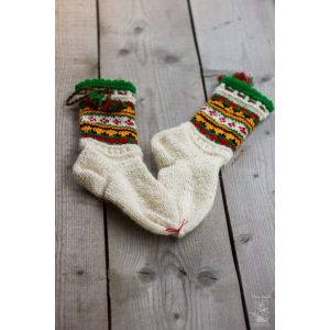 "Knitted wool socks ""Festive"""