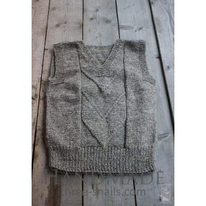 "Knitted wool vest ""Janete"""