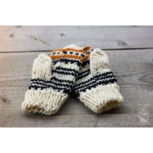 "Knitted woolen mittens ""Eco winter"""