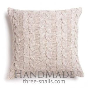 Knitting square pillow case