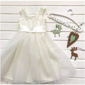Lace white dress for girls