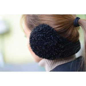"Ladies ear muffs ""Black texture"""