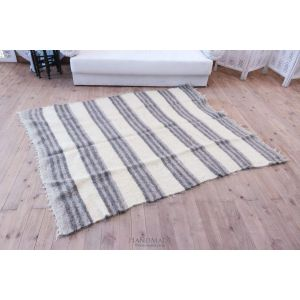 "Large area rug ""Grey stripes"""