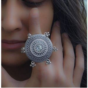 Large Indian silver ring