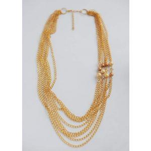 """Large necklaces. Chain necklace """"Vogue gold"""""""