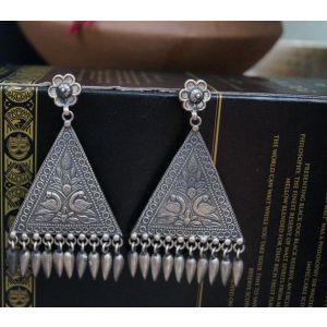Large triangular earrings