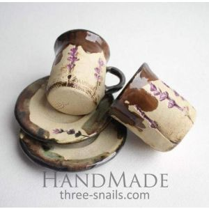 "Lavender ceramic set ""Romantic date"""