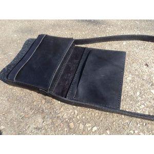 """Leather bag """"Black Lion"""""""