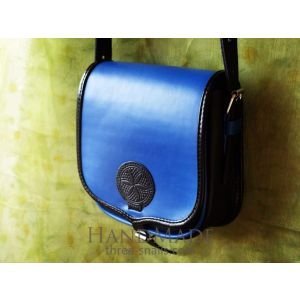 Leather Bag «Forget-me-not»