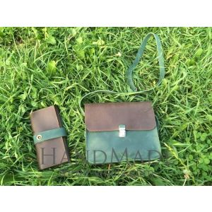 "Leather bags for women and purses ""Two colors"""