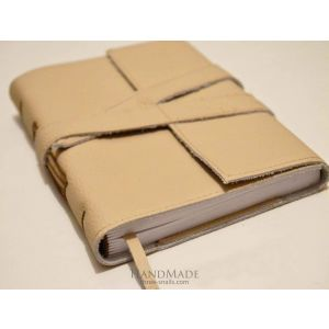 """Leather bound notebook """"Cappuccino"""""""