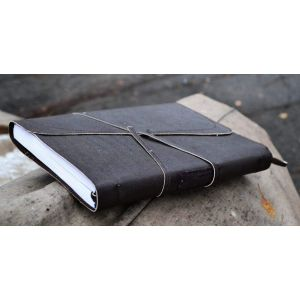 "Leather bound notebook ""Lucky day"""