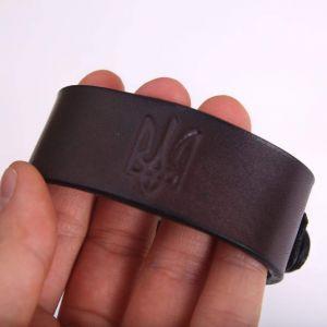 "Leather bracelet ""Trident"""