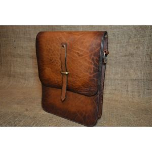 "Leather briefcase for men ""Casual way"""
