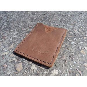 "Leather cardholder ""Chocca"""