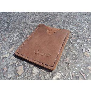 "Leather cardholder ""Chocca"""
