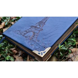 "Leather diary handmade ""Paris"""