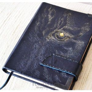 """Leather notebook """"Tiger glance"""""""