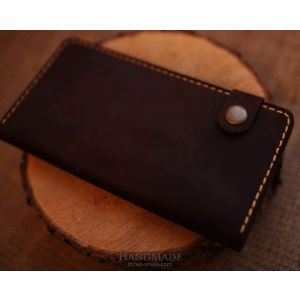 "Leather wallet ""Chocolate"""
