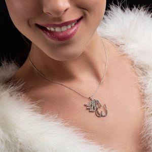 Letter C gold pendant