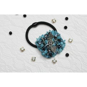 "Light blue hair tie ""Blue shine"""