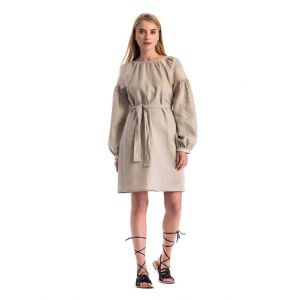 "Linen dresses for women ""Detailed embroidery"""