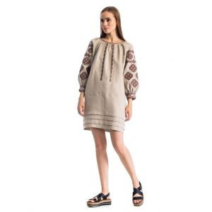 "Linen dresses ""Geometric pattern"""