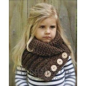 Little girl scarf knitted collar