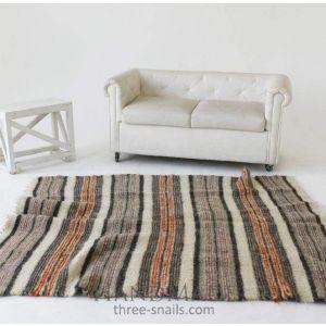 "Living room area rug ""Red stripes"""