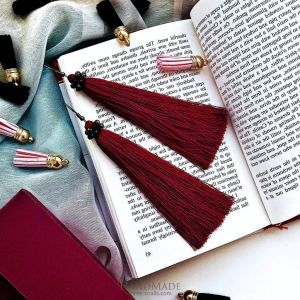 Long dangle tassel earrings