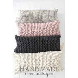 Long hand knitted pillow cover