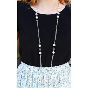"""Long Necklace Chain """"Flora"""""""