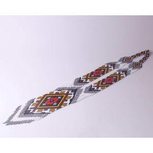 "Long seed bead necklace ""Bright gerdan"""