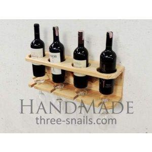 Long wine bottle shelf