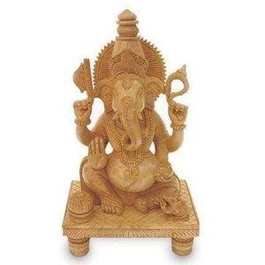 Lord ganesha wooden sculpture