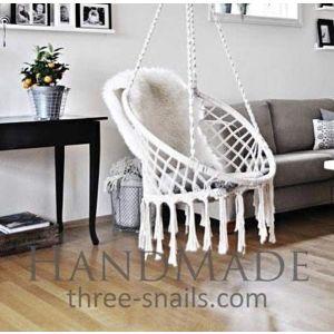 Macrame chair indoor hammock