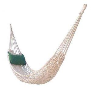 Macrame patio hammock