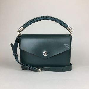Green leather mini bag