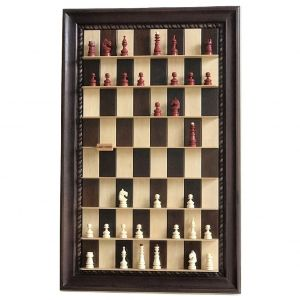 Wall-mounted chess set